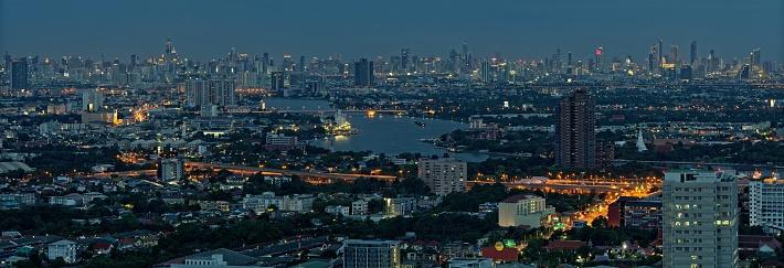 istock Bangkok panorama at dusk 1187458105