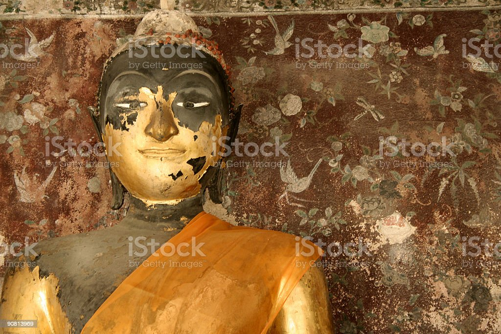 bangkok peeling temple buddha thailand royalty-free stock photo