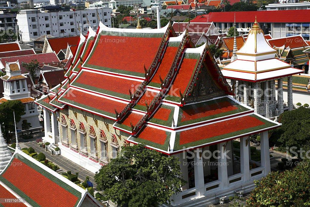 Bangkok roofs royalty-free stock photo