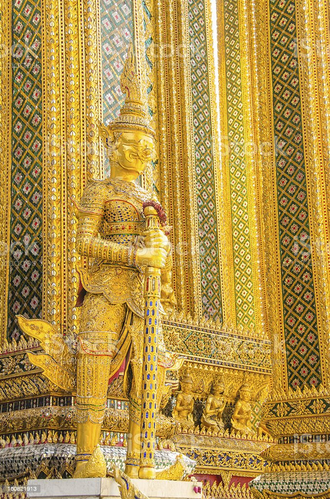 Bangkok Royal Complex:  Guardian Demon royalty-free stock photo