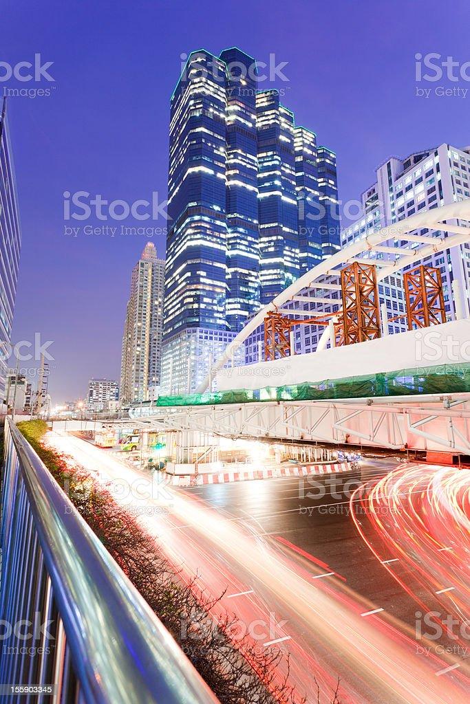Bangkok Sathon area royalty-free stock photo