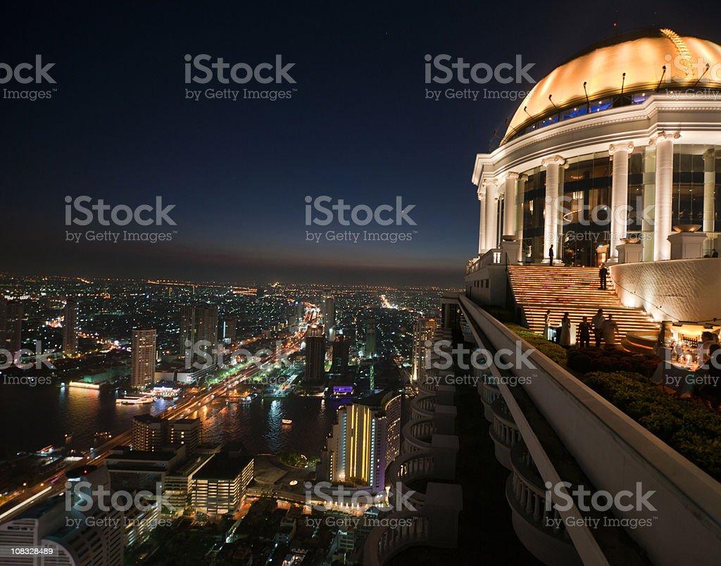 Skyline von Bangkok bei Sonnenuntergang (XXXL – Foto