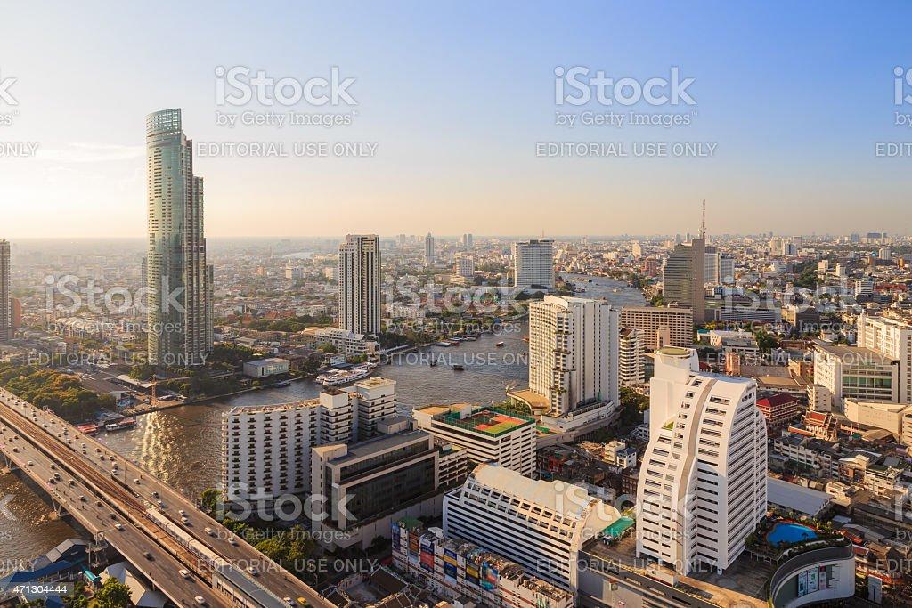 Bangkok Skyscrapers stock photo