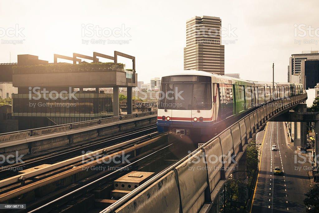 Bangkok skytrain stock photo