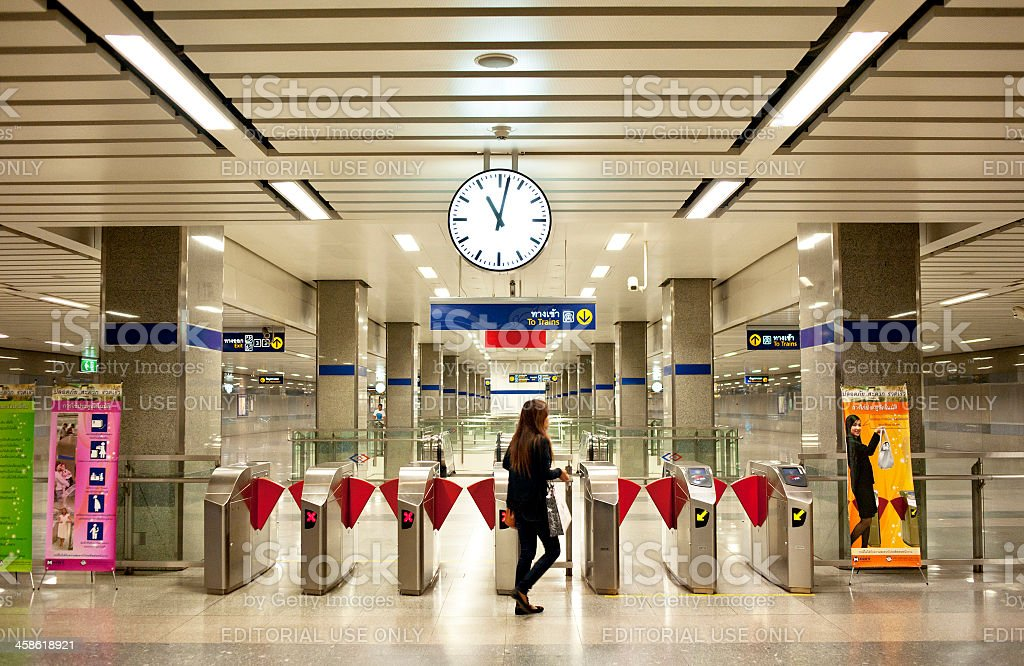 Bangkok Subway Station stock photo
