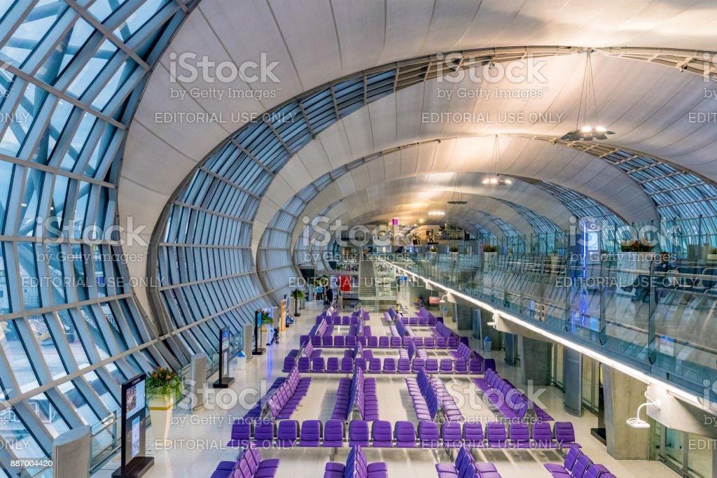 Aeropuerto de Bangkok Suvarnabhumi - foto de stock
