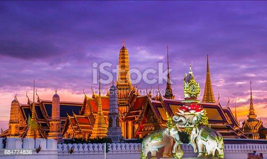 Bangkok Temples and Palace at Sunset