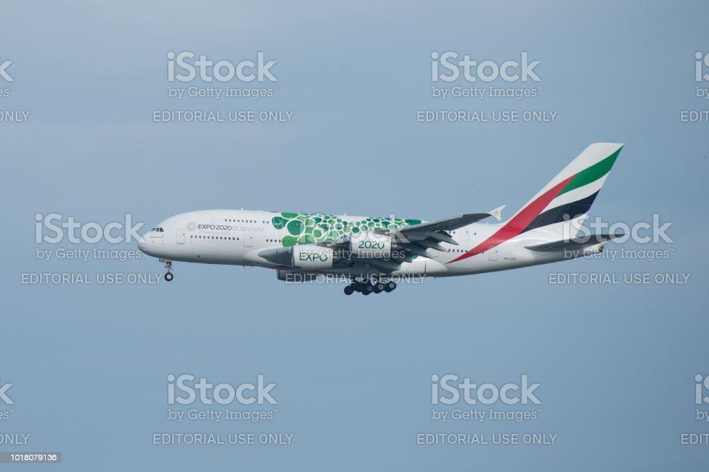Bangkok Thailand 12th Aug 2018 Emirates Reg No A6eez A380861