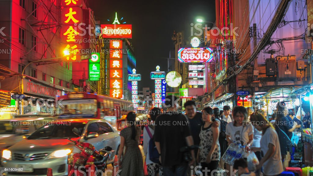 Bangkok Thailand Chinatown stock photo