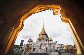 TEMPLE OF THE GOLDEN BUDDHA (WAT TRAIMIT) Bangkok, Thailand - September 17,2020 : Temple is known for its famous Biggest Golden Buddha.