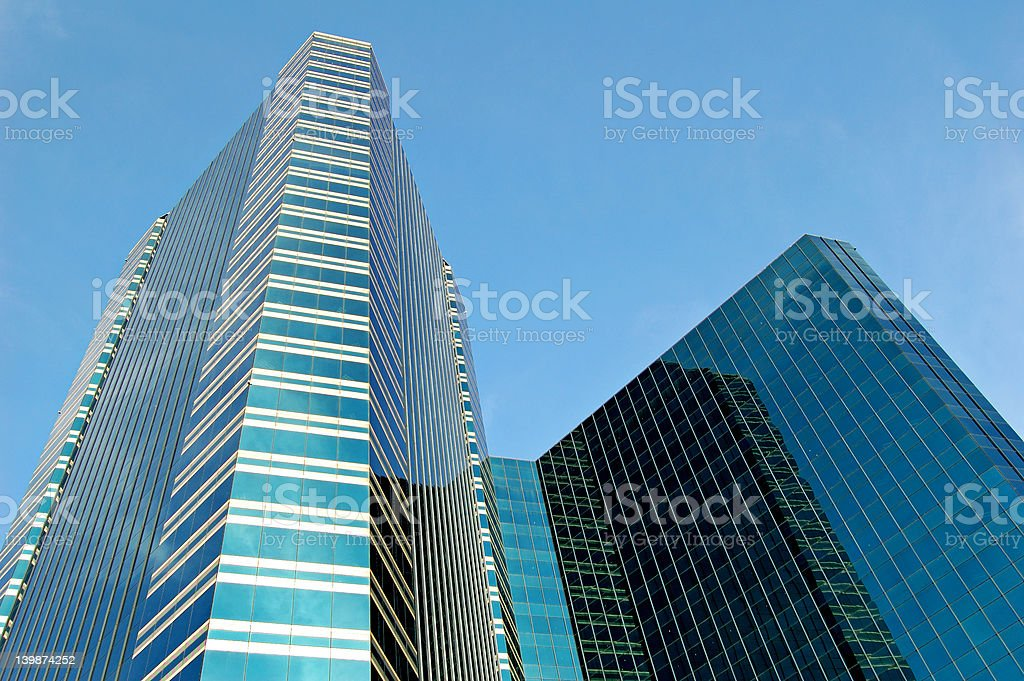 Bangkok towers stock photo