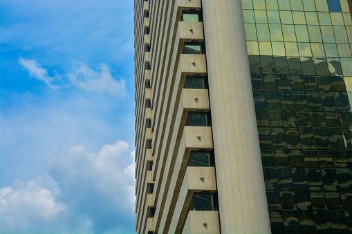 Bangkok's business landmark cityscape with blue sky, Corporate building in Bangkok city.