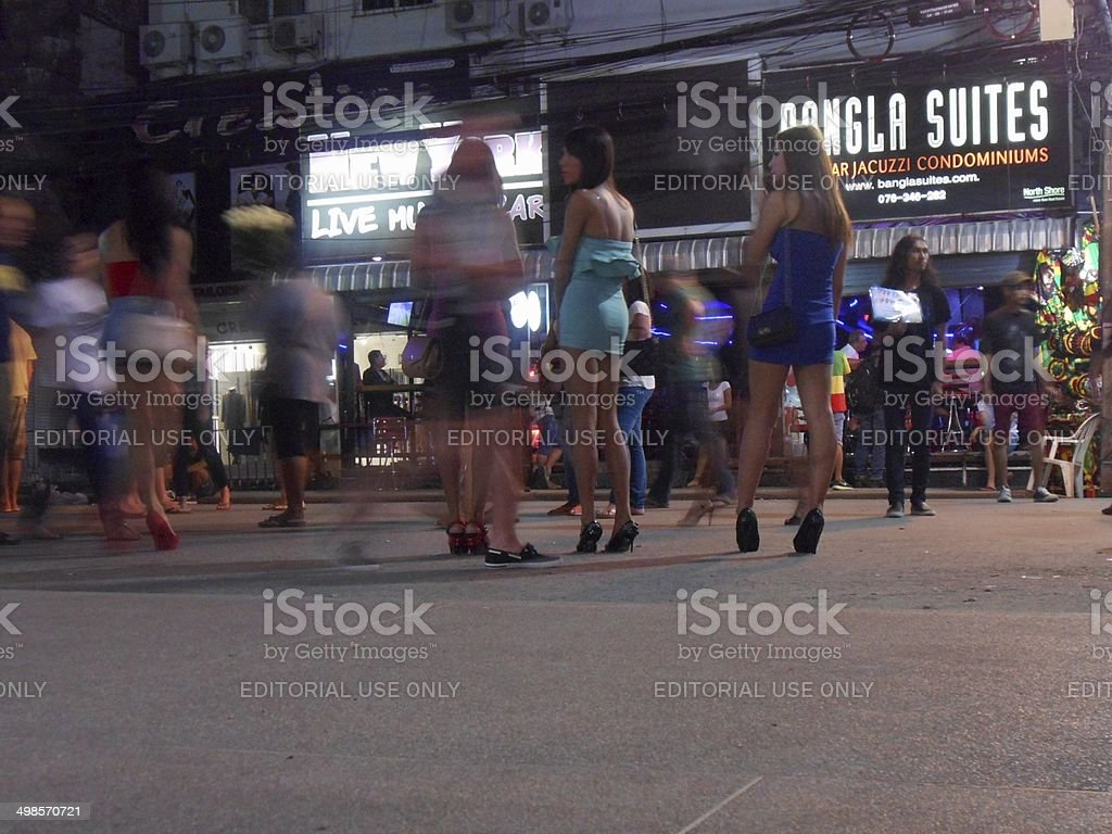 Bangla road nightlife scene, Patong - Thailand stock photo