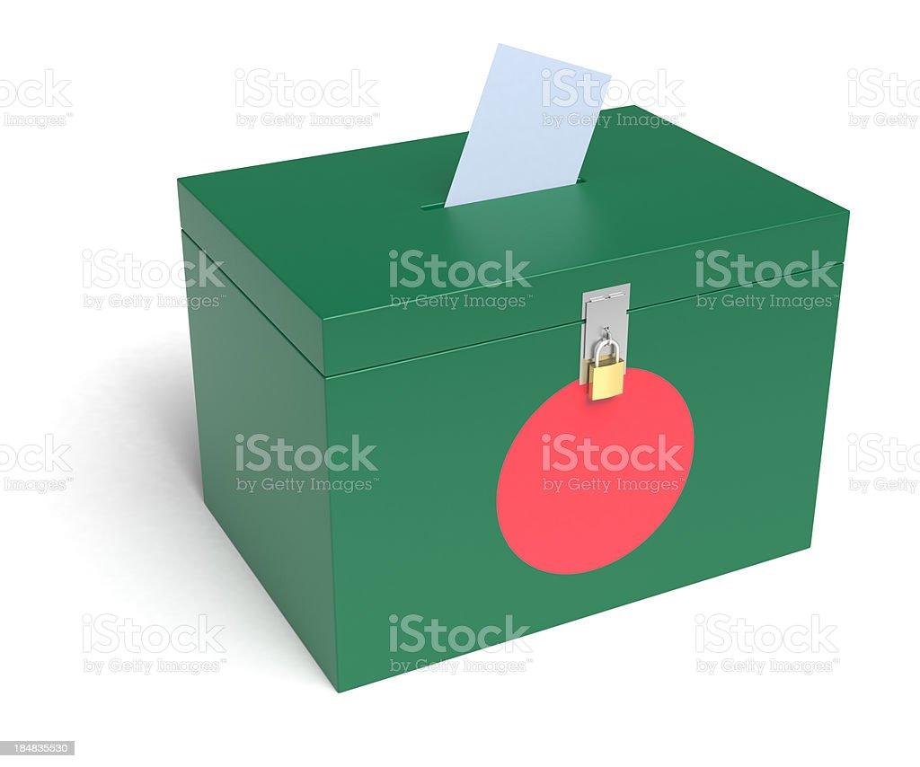 Bangladesh bandera urnas - foto de stock