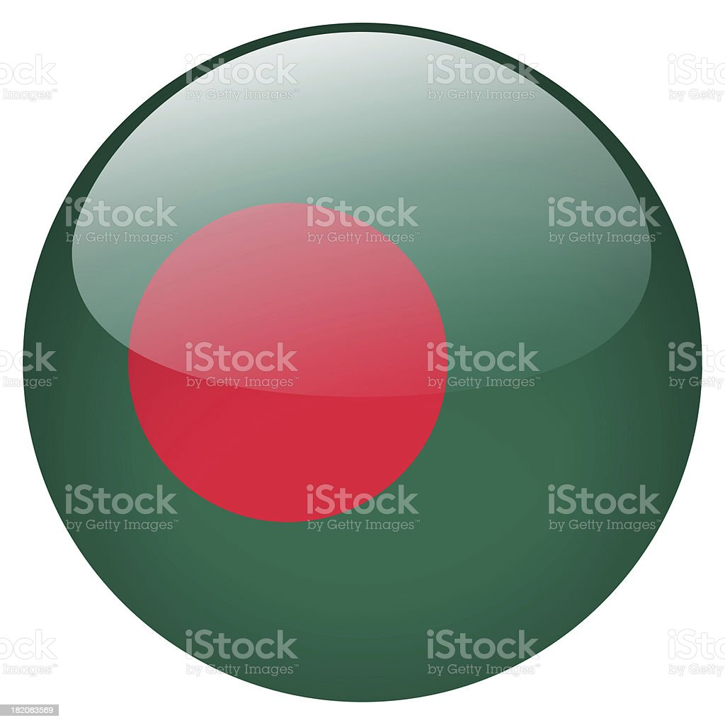 bangladesh flag button stock photo