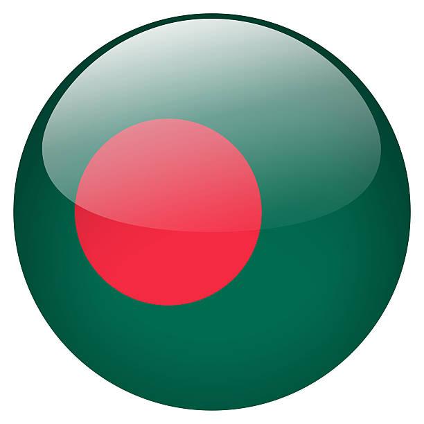 bangladesh flag button stock photo