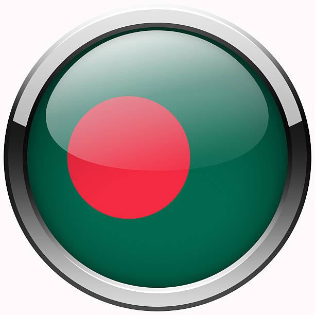 bangladesh flag gel metal button stock photo