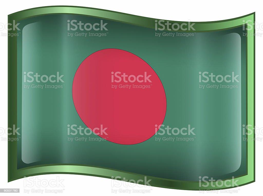 Bangladesh Flag icon, isolated on white background. stock photo
