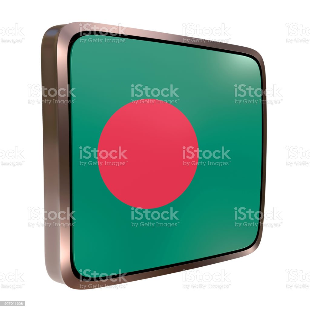 Bangladesh flag icon stock photo