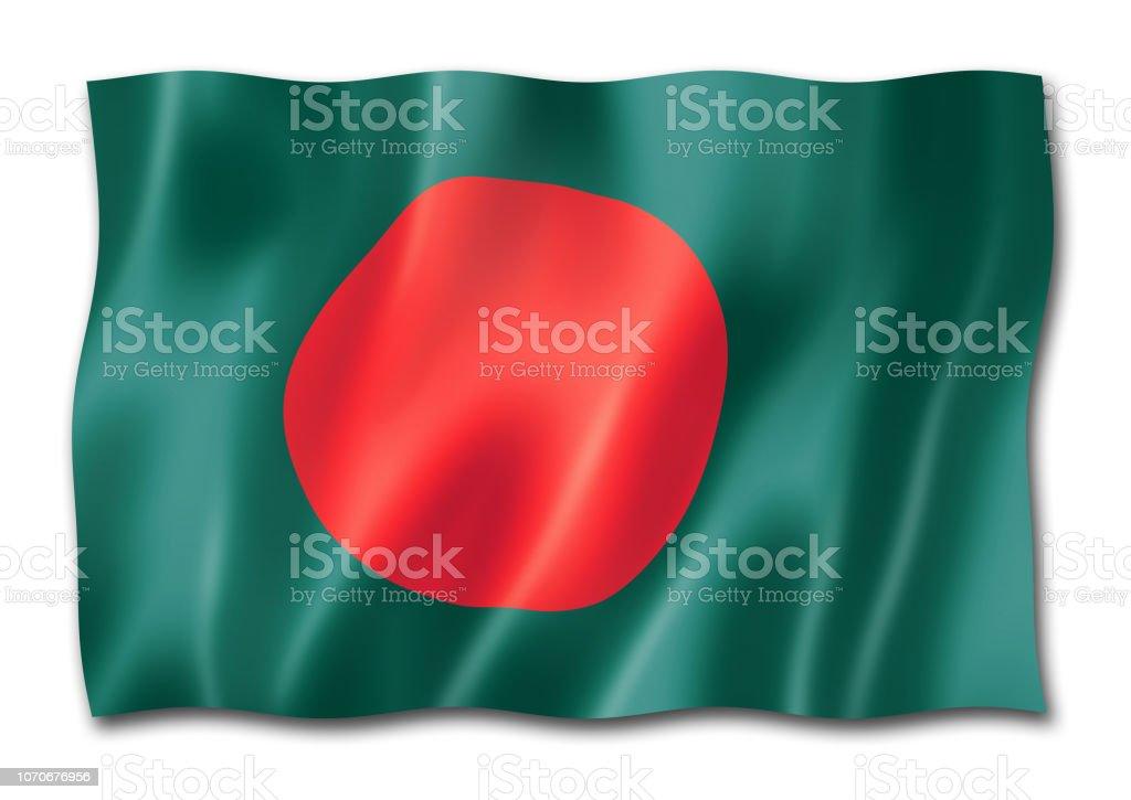 Bangladesh flag isolated on white stock photo