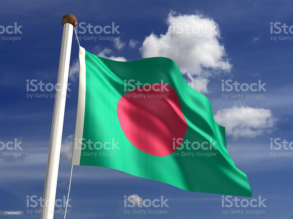 Bangladesh flag (with clipping path) stock photo