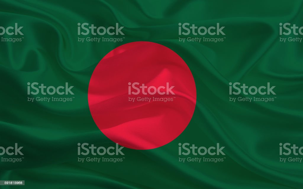 Bangladesh flag stock photo