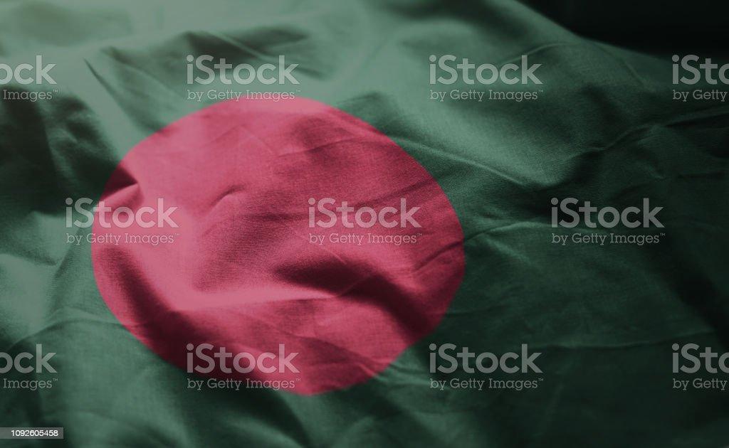 Bangladesh Flag Rumpled Close Up stock photo