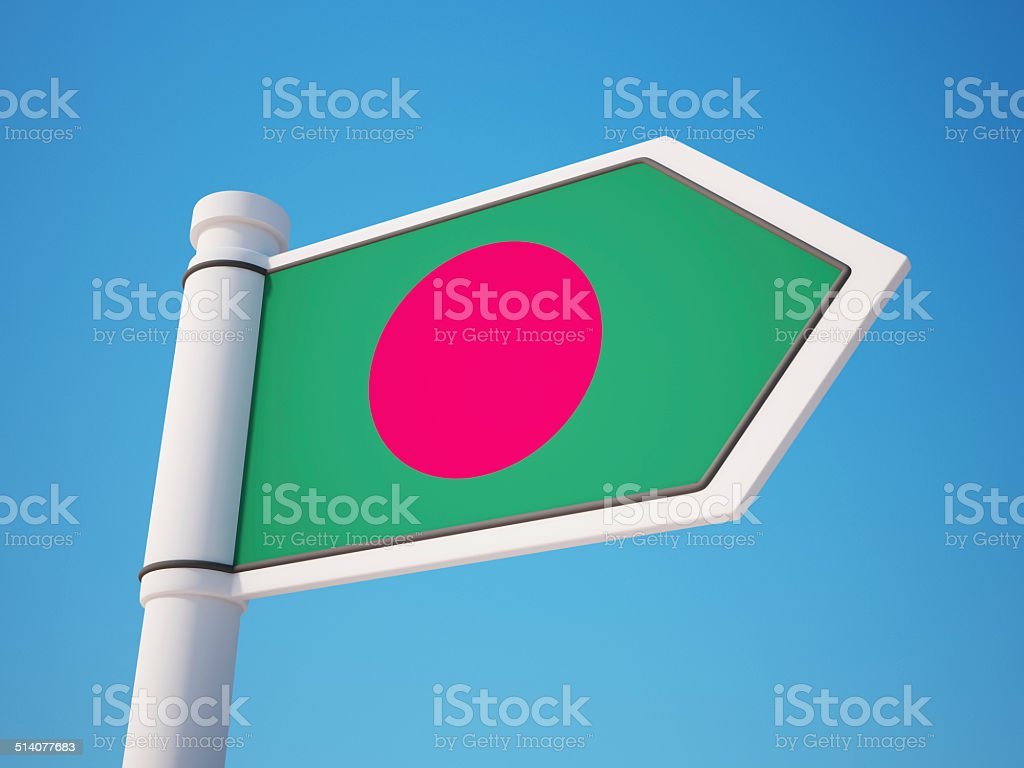 Bangladesh Flag Sign stock photo