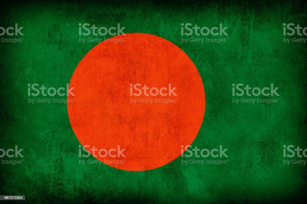 Bandera del Grunge de Bangladesh - foto de stock
