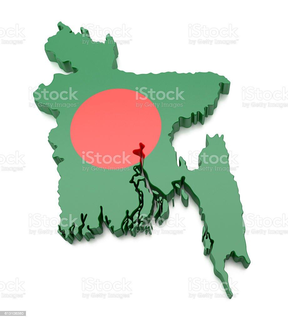 Bangladesh Mapa - foto de stock