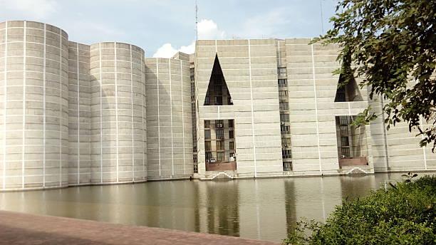 bangladesh parliament right side 스톡 사진