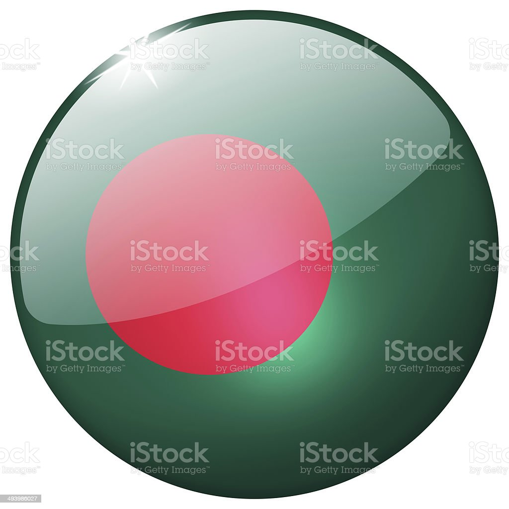 Bangladesh Round Glass Button stock photo