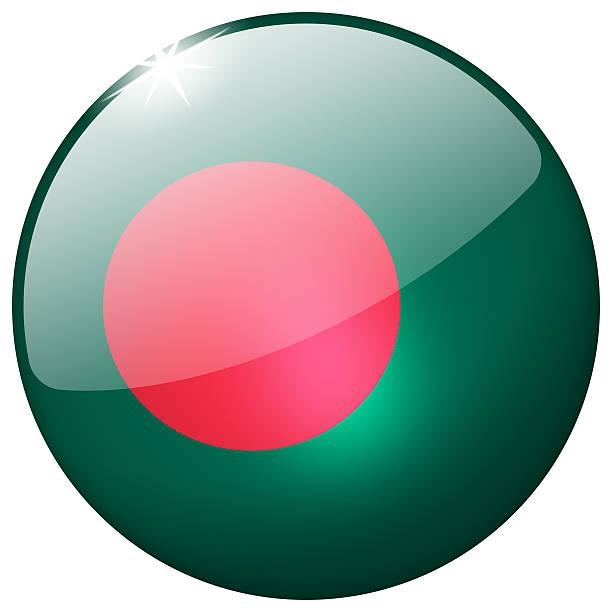 Bangladesh Round Glass Button stock photo