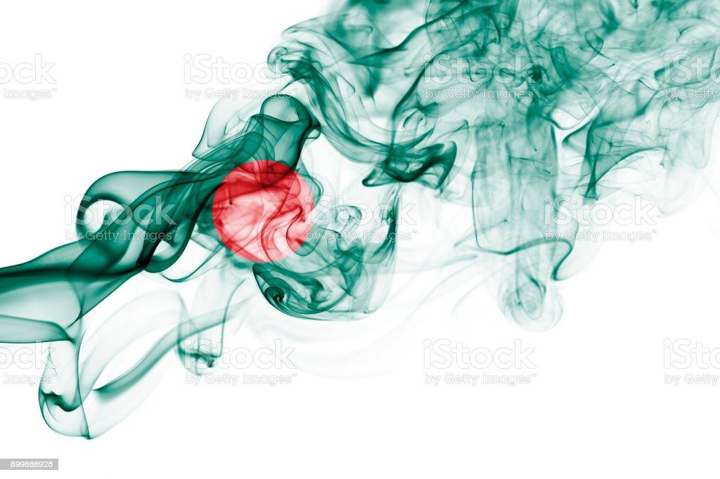 Bangladesh smoke flag stock photo
