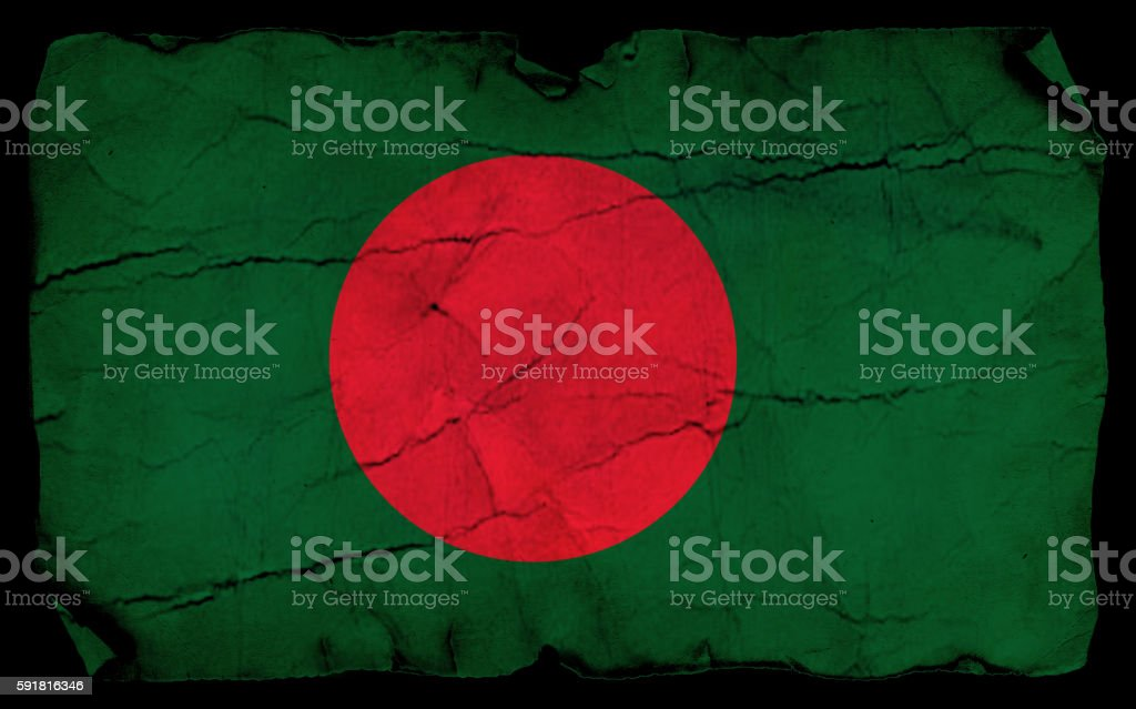 Bangladesh vintage Flag stock photo