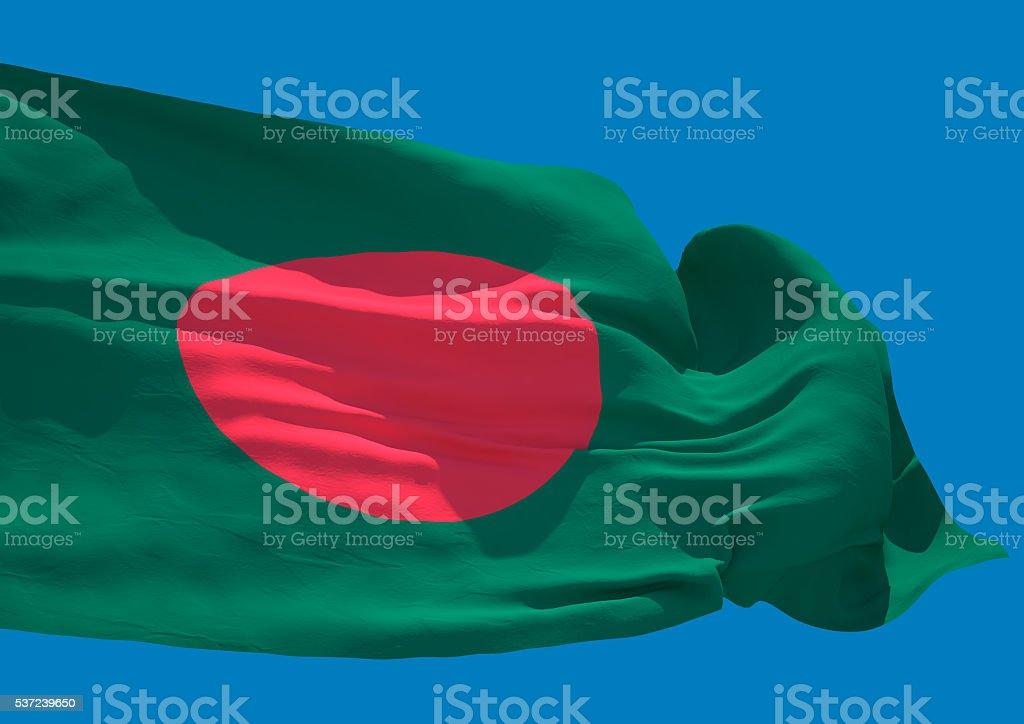 Bangladesh wave flag HD stock photo