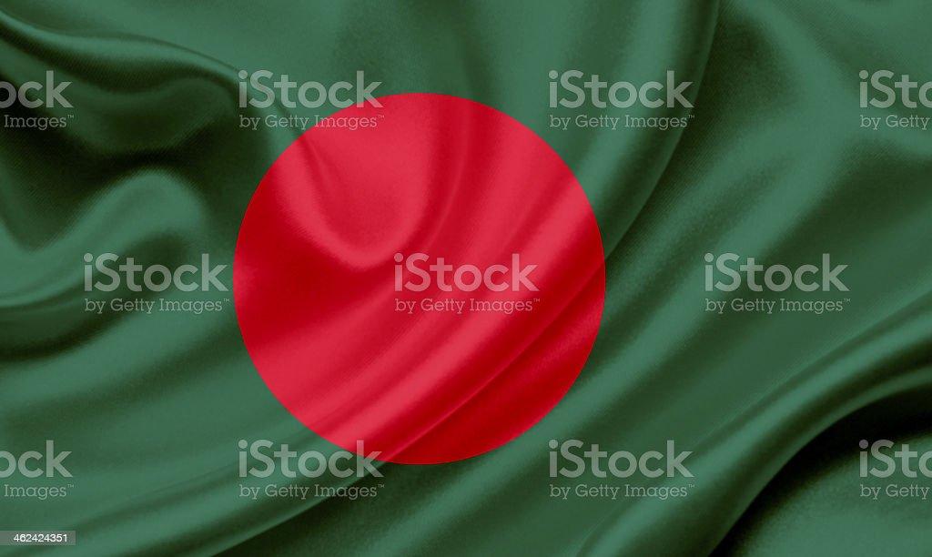 Bandera de Bangladesh Saludar con la mano - foto de stock