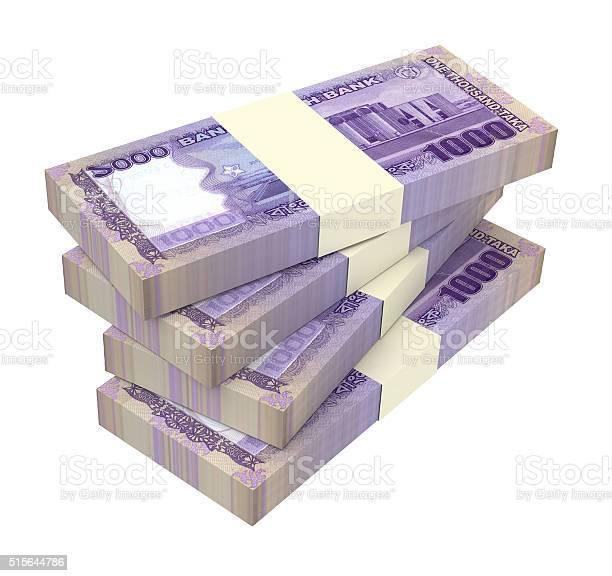 Bangladeshi Taka Bills Isolated On White Background Stock Photo ...