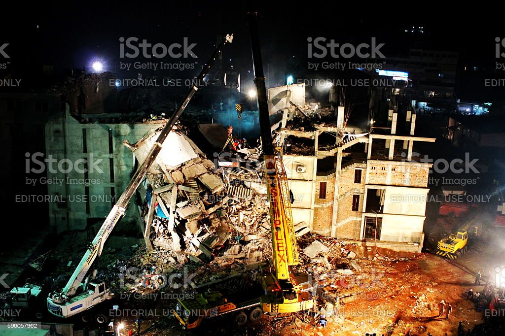 Bangladesh's worst ever factory disaster 스톡 사진