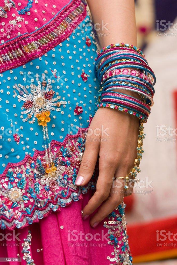 Bangles and Sari stock photo