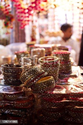 Bangles in a market in mumbai
