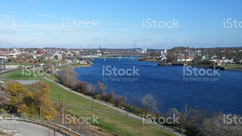 Bangor by the Blue Penobscot River in Fall - Royalty-free 2015 Stock Photo