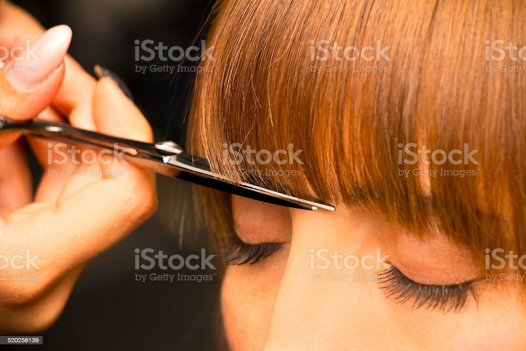 Bangs Trimmed stock photo