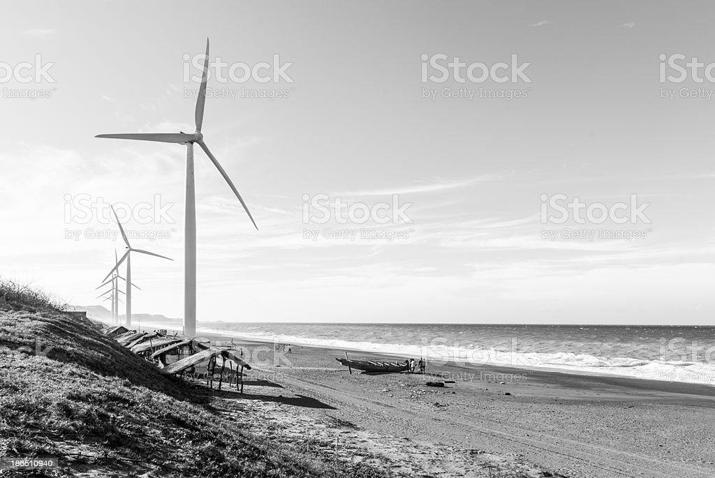 Bangui Wind Turbines royalty-free stock photo