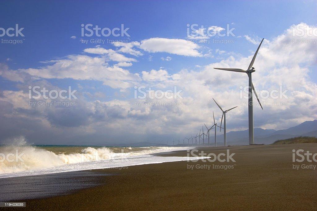 Bangui windmills royalty-free stock photo