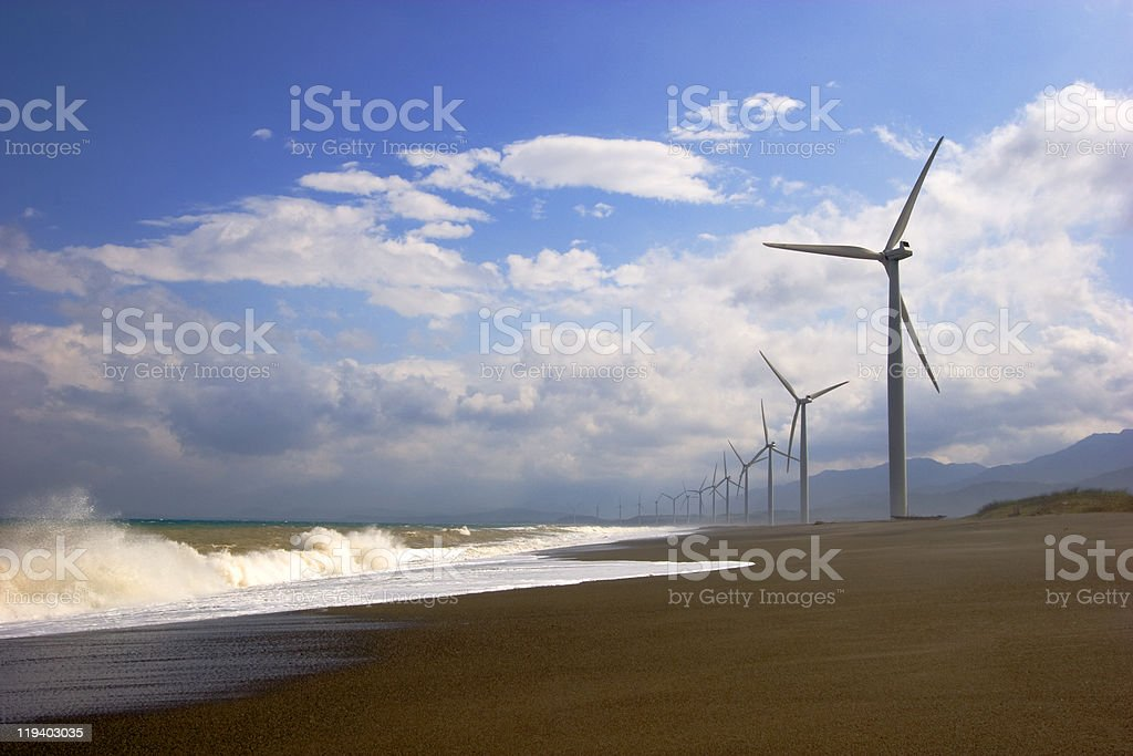 Bangui windmills stock photo