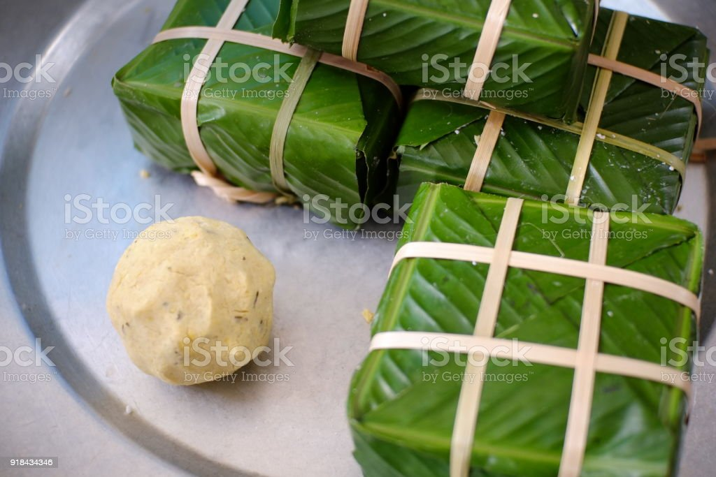 Banh Chung of Vietnam stock photo