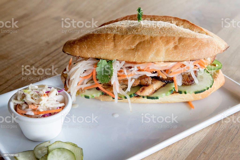 banh mi sandwich stock photo