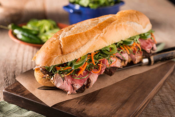Banh Mi Sandwich Banh Mi Sandwich bánh mì sandwich stock pictures, royalty-free photos & images