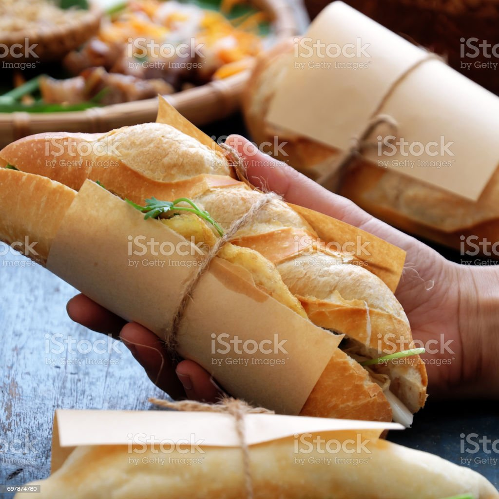 banh mi, Vietnamese bread stock photo